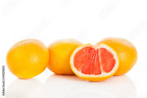 grapefruits. grapefruit isolated on white background