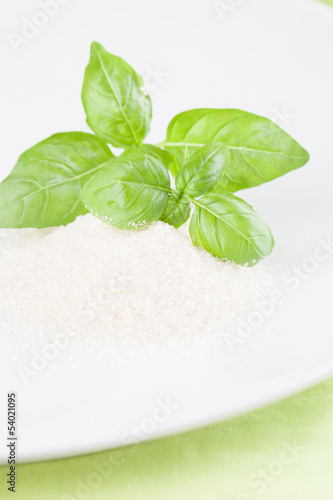 Basil and cane sugar