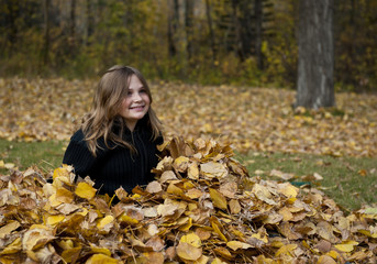 Sitting in Leaves