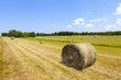 American countrysidelandscape with bundles of hay