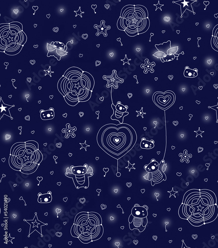 children's seamless pattern.