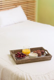 Breakfast tray in bed