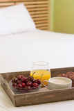 Breakfast tray in bed poster