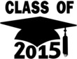 Class of 2015 College High School Graduation Cap