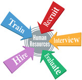 Human Resources employee hiring people