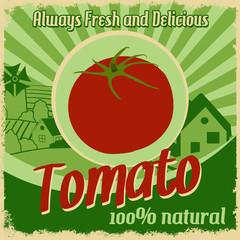 Vintage poster for tomato farm
