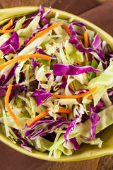 Homemade Coleslaw with Shredded Cabbage and Lettuce