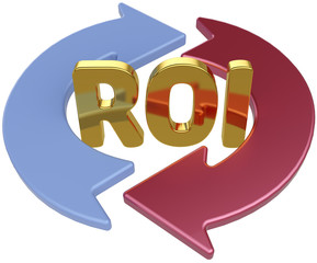 ROI Return On Investment arrows
