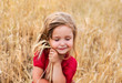 BAby girl at the wheat field