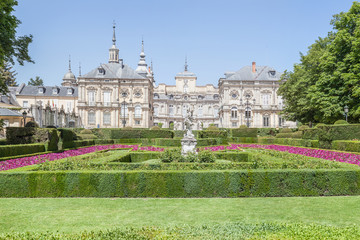 Royal Palace of La Granja de San Ildefonso in Segovia, Spain