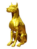 golden guard dog half profile