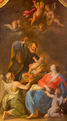 Vienna - Holy Family paint in  Jesuits church