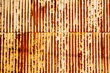 rusty corrugated texture