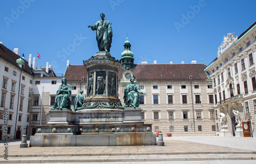 Vienna - Monument to Emperor Franz I in Hofburg