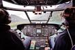 Hubschrauberflug in Cockpitansicht - 54027209