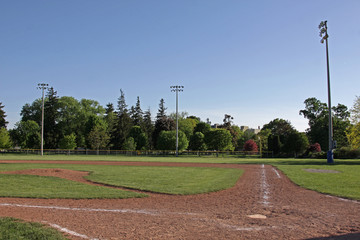 Unoccupied Baseball Diamond