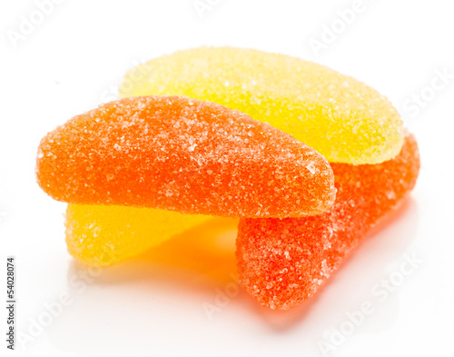bunch of orange and lemon jelly