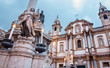 Palermo - San Domenico - Saint Dominic church and baroque column