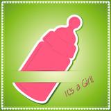 """It's a Girl"" Babykarte"
