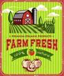 Vintage Farm Fresh Poster Design