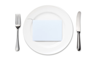 Dinner Plate with Blank Card