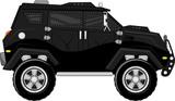 armored truck bodyguard car vector poster