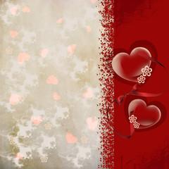 день Святого Валентина сердца открытка