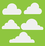 Royalty Free Clouds Vector poster