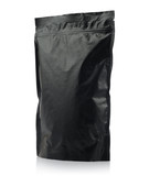 Modern vacuum sealed black package of coffee or tea