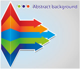 Abstract arrow background. Vector illustration.