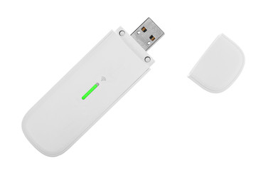 White 3g usb wireless modem