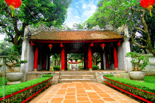 The Temple of Literature in HaNoi, Vietnam