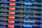 Decreases of stock market poster