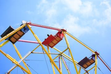 Ferris Wheel isolated against the sky