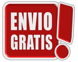 Ausrufezeichen-Button rot ENVIO GRATIS