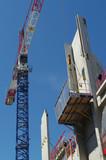 chantier - construction de bâtiment commercial poster
