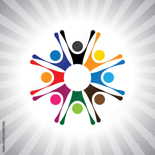 party people get-together to celebrate good time- simple vector
