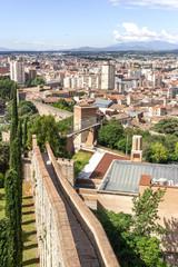 Veduta delle mura di Girona, Spagna