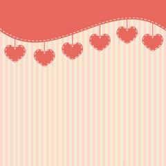Pink background with hearts