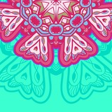 Ornamental round lace. Aztec.
