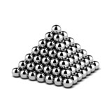 Pyramid of metal balls