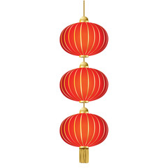 china lamp on white background