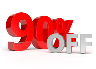 90 percent off - discount