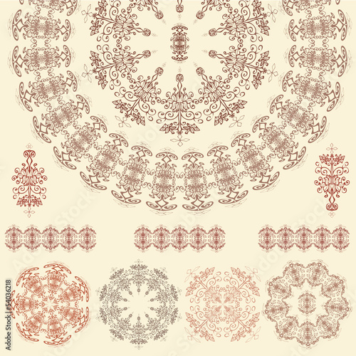 Set of mandalas (Vector)