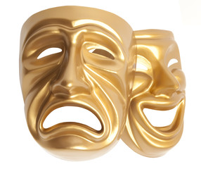 theatrical mask isolated