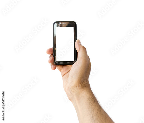 Taking photo on mobile phone concept in vertical
