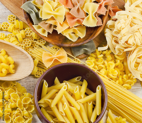 assortment of pasta