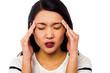 Girl having serious headache