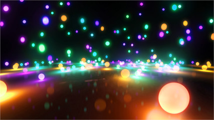 colorful light balls 1