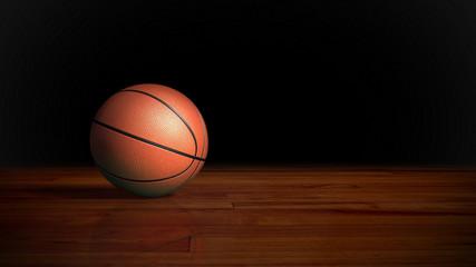 basketball on wood floor 2